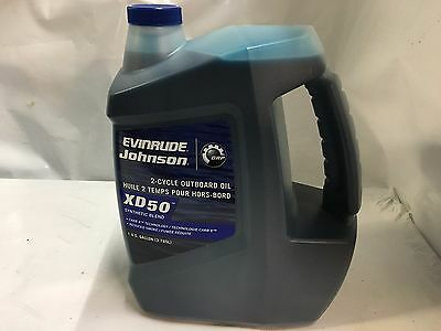 XD 50 2 cycle outboard oil Johnson Evinrude Synthetic Blend Gallon PN 764354
