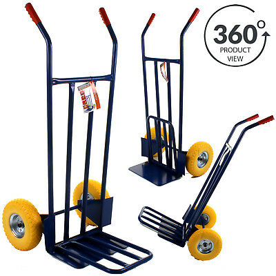 Industrial Sack Truck Heavy Duty Hand Trolley 600LB Warehouse Puncture Proof NEW