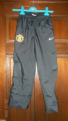 Boys Tracksuit Bottoms - Manchester United - Age 8/10 Years - Nike - Black