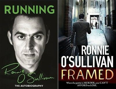Running: The Autobiography & Framed by Ronnie O'Sullivan (2 Book Set Collection)