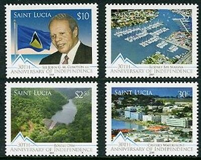 ST. LUCIA Sc.# 1258-61 30th Anniversary Independence Stamps