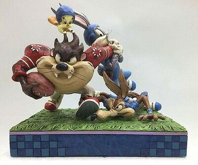 Looney Tunes by Jim Shore Gridiron Gridlock Tackle Football Statue New