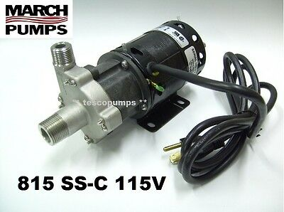 March pump  815 SS-C  115v  with base 6' cord & plug  home brewing   HF 809
