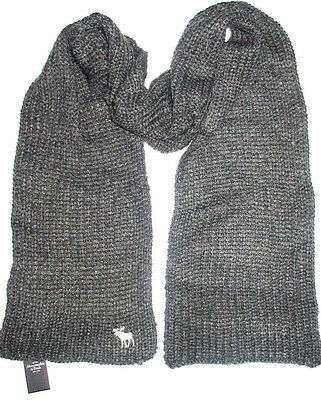 Mens Abercrombie & Fitch Gray Scarf