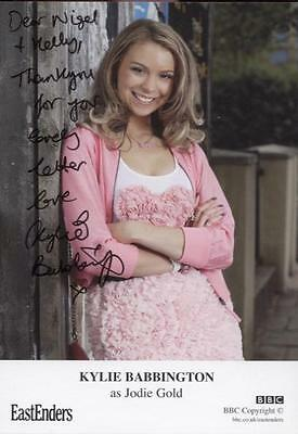 SIGNED EastEnders Kylie Babbington as Jodie Gold Official Cast Card Autographed