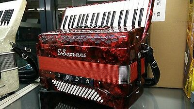 Soprani Accordion pari nuovo suono vintage + case 80 bass Fisarmonica Accordeon