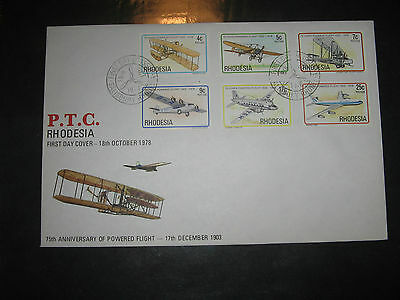 Rhodesia 1978 Powered Flight Anniversary First Day Cover
