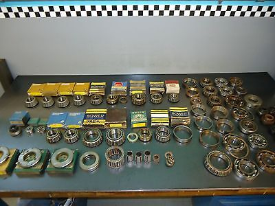Wholesale Vintage Parts Store Lot of (62) New Tapered and Ball Bearings & Races