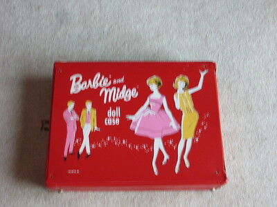 Vintage Mattel 1963 Large Red Barbie and Midge Doll Case