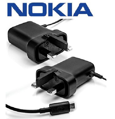 Genuine AC-20x Micro USB Mains Charger with 1.5m Cable UK Plug for Nokia Phones