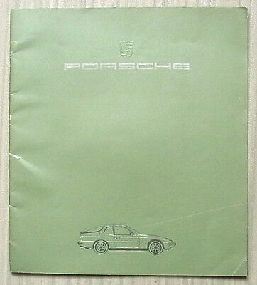 PORSCHE 924 Car Sales Brochure 1984 #WVK103120 VMA 7/83 ENGLISH TEXT