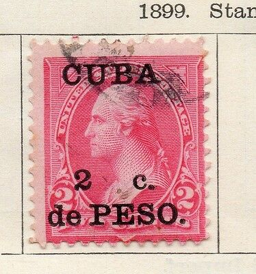 Spanish Caribbean 1899 Early Issue Fine Used 2c. Surcharged 113672