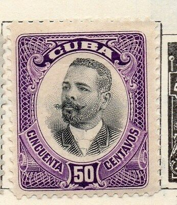 Spanish Caribbean 1910 Early Issue Fine Mint Hinged 50c. 113693