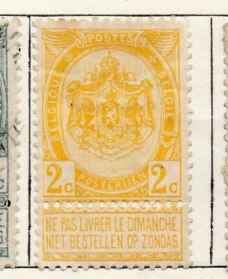 Belgium 1893 Early Issue Fine Mint Hinged 2c. 115323