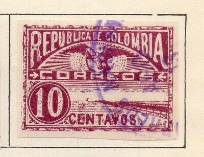 Colombia 1902-03 Early Issue Fine Used 10c. Imperf 115348