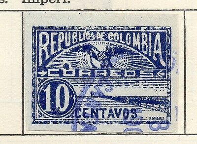 Colombia 1903 Early Issue Fine Used 10c. Imperf 115349