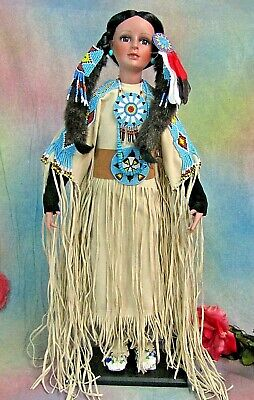 """Native American Indian DOLL Nanci TIMELESS Collection SOUTH WIND porcelain 26"""""""