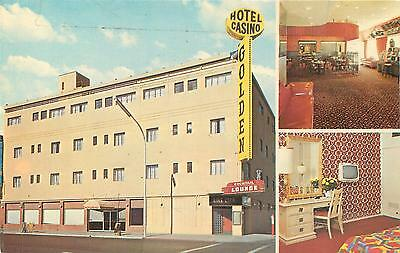 LAS VEGAS, NV Nevada  GOLDEN Hotel CASINO  c1960s Postcard
