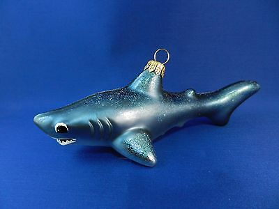 Great White Shark Sealife Animal Glass Christmas Tree Ornament Poland 011253