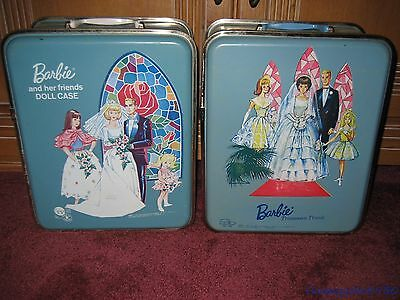 VINTAGE Wedding American Girl & Bubble Cut Barbie Hard Plastic SPP Doll Cases