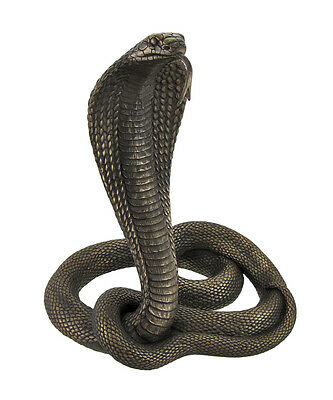 Large Bronzed King Cobra Statue