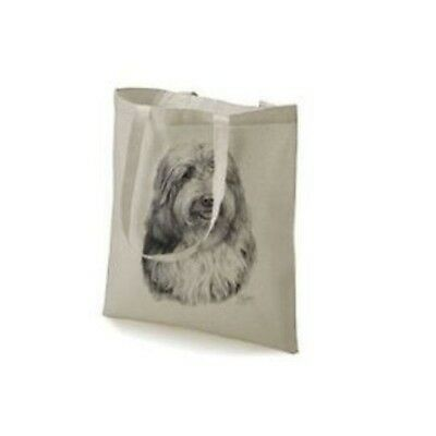 Mike Sibley Bearded Collie Design Printed Tote Bag