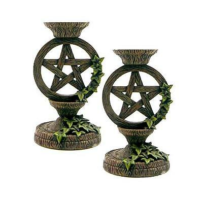 Pentagram Taper Candleholder set 5 1/2""
