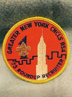 Boy Scouts -  Greater New York Councils - '73 Roundup Recruiter patch