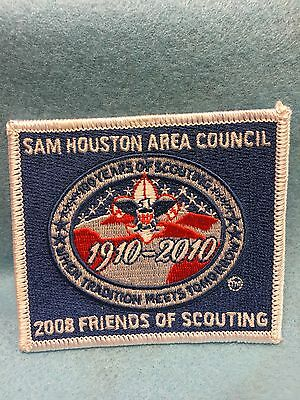 Boy Scouts-  2008 Friends of Scouting patch- Sam Houston Area Council