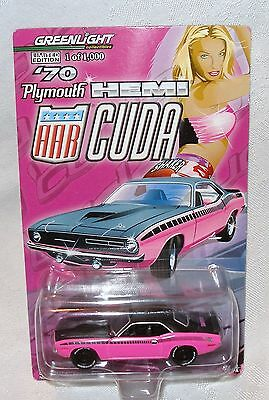 Greenlight Shaker 70 Plymouth AAR Cuda Panther Pink 1000 made
