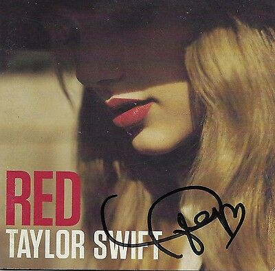 Taylor Swift REAL hand SIGNED RED CD JSA COA Pop Star Autographed RARE