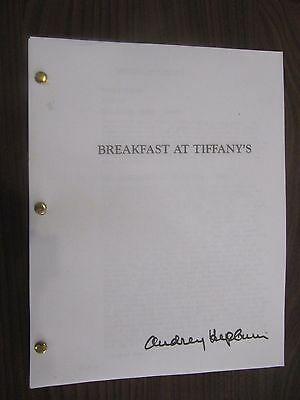 1960 Breakfast at Tiffany's Script. AUDREY HEPBURN'S COPY. With her notes, etc.