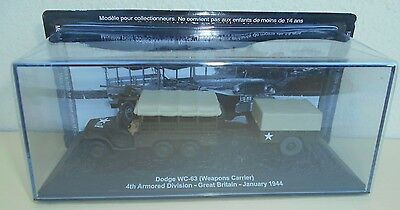 """Die Cast Tank """"dodge Wc-63 Weapons Carrier Great Britain- 1944""""  Scala 1/72 027"""