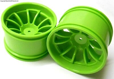 08008 RC 1/10 Scale Off Road Monster Truck Wheel Rim Green HSP x2