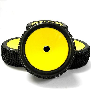 180120 1/8 Scale Off Road Buggy RC Wheels and Tyres Disc Yellow x 4