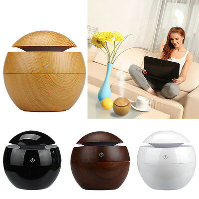 LED Touch Aroma Ultrasonic Humidifier USB Essential Oil Diffuser Air Purifier