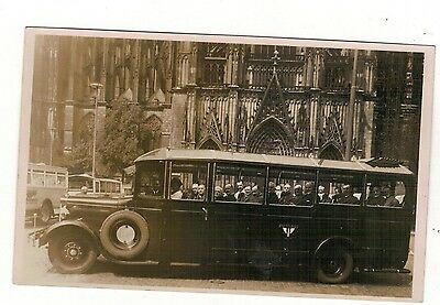 German   Autobus . Old Real Photo Postcard
