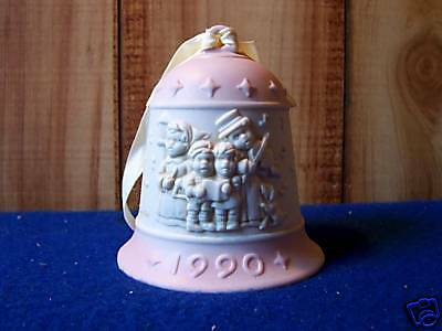 Jefferson Mint Christmas Porcelain Pink Bell Holiday Ornament 1990 LE
