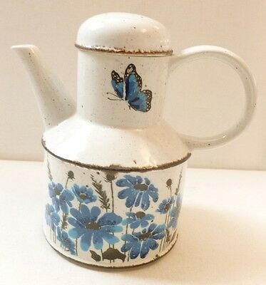 Midwinter Pottery Butterflies Stonehenge range Coffee / tea pot