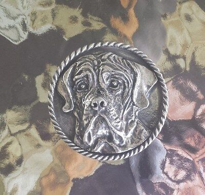 Family House Pet Purebred 1 Mastiff Dog Pewter Pin. All New.