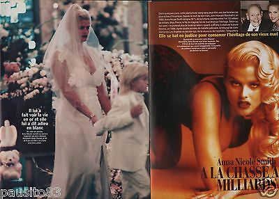 Coupure de presse Clipping 1999 Anna Nicole Smith  (5 pages) chasse aux milliard