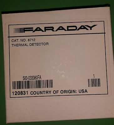 New ~ Faraday 8712 Heat Detector (10Available, 1 Yr. Protection Plan! Free Ship)