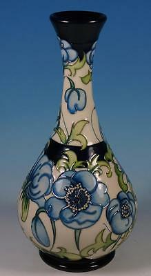 A MOORCROFT Florian Revisited Sissons Blue Poppies 80/9 Vase RRP £395 R.Bishop