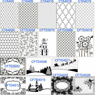 CRAFTS TOO Embossing Folders - Christmas Frames Patterns Invitation Flowers