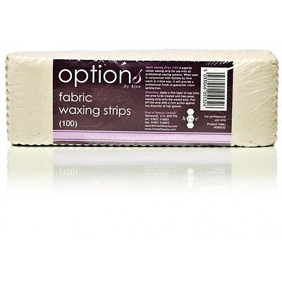 HIVE Options FABRIC Waxing Strips Cotton (100 Per Pack) Size: 20cm x 7cm