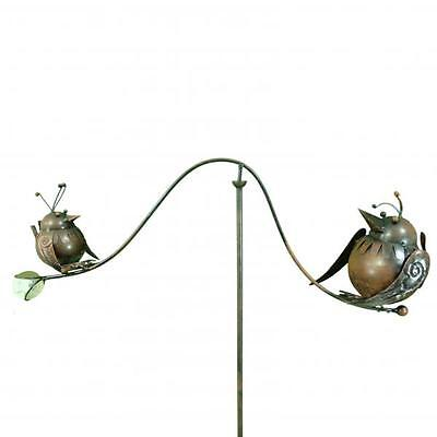 Spinning Balancing Big & Small Birds Metal Garden Wind Spinner Ornament