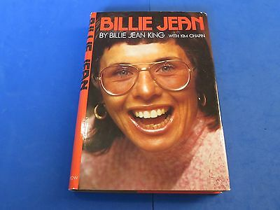 BILLY JEAN KING SIGNED BOOK ~ BILLY JEAN With KIM CHAPIN ~