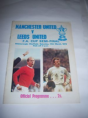 1970 FA CUP SEMI-FINAL - LEEDS UNITED v MANCHESTER UNITED - PROGRAMME
