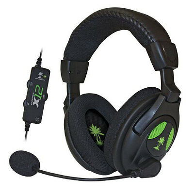 Turtle Beach Ear Force X12 Gaming Chat Headset For Xbox 360 NEW