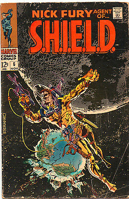 Nick Fury Agent Of SHIELD #6 - Space Cover Doom Must Fall! - 1968 (Grade 4.5)
